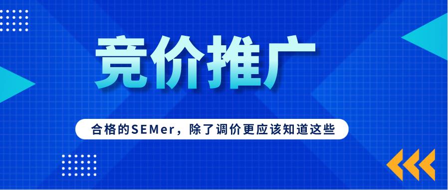 合格的SEMer,除了调价更应该知道这些